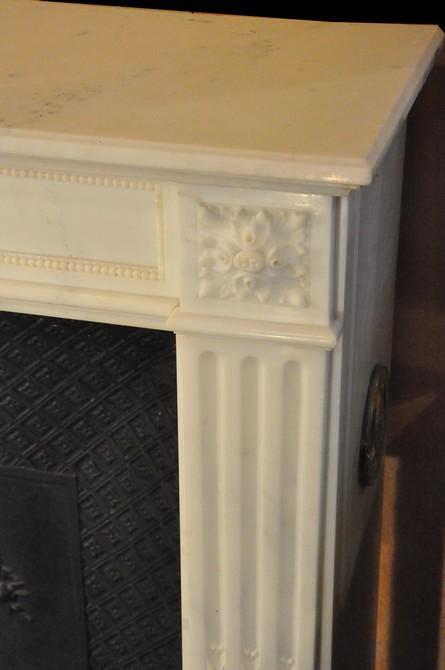 chemin e ancienne louis xvi marbre demie statuaire daniel morel. Black Bedroom Furniture Sets. Home Design Ideas