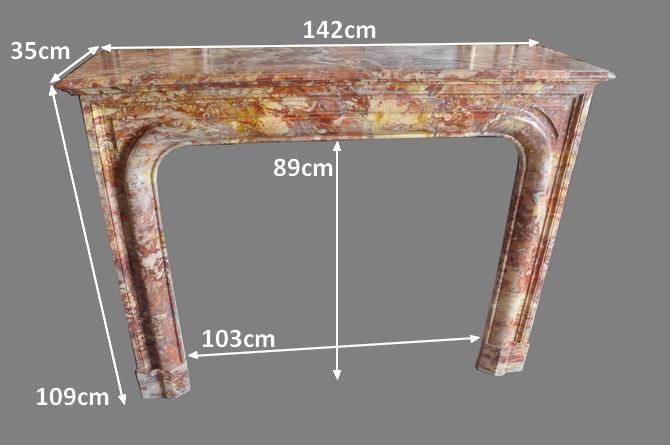 chemin es anciennes mat riaux anciens louis xv 19 eme si cle marbre. Black Bedroom Furniture Sets. Home Design Ideas