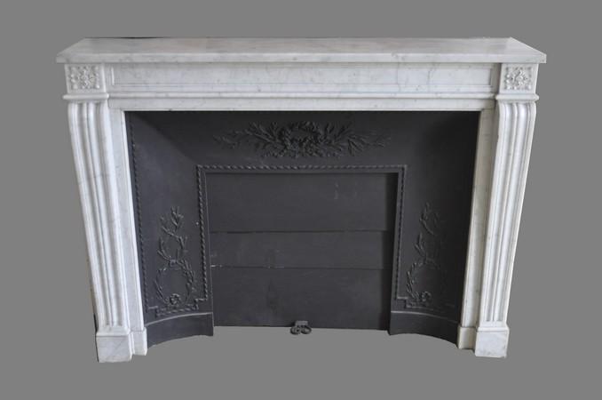 Chemin e ancienne mat riaux anciens louis xv 3 coquille 19 eme si cle marbre achat vente - Demolition cheminee ancienne ...