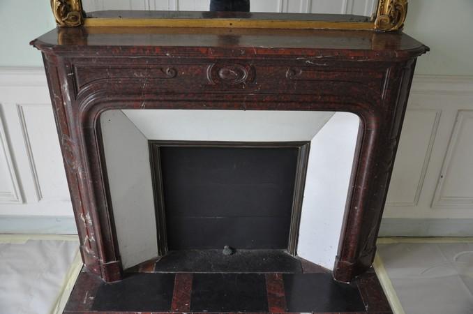 chemin e ancienne louis xiv 19 eme si cle marbre griotte achat vente daniel morel. Black Bedroom Furniture Sets. Home Design Ideas