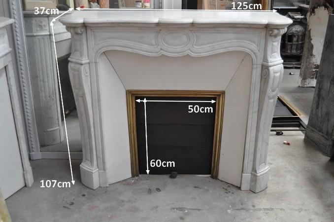 Chemin es anciennes mat riaux anciens louis xv 19 eme si cle marbre - Insert dans ancienne cheminee ...