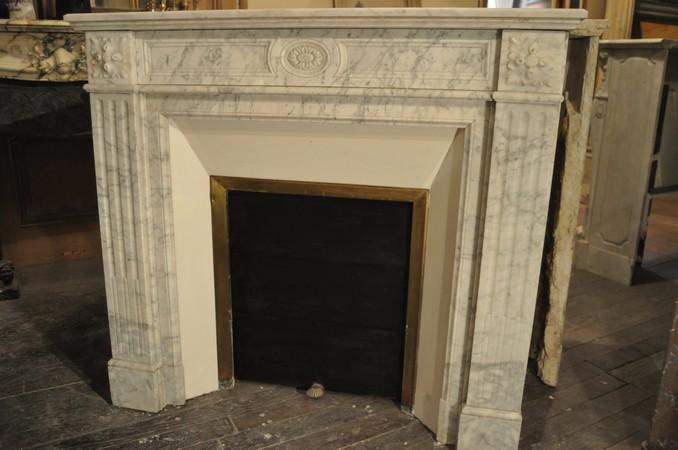 Chemin e ancienne 19 eme si cle marbre achat vente daniel morel - Demolition cheminee ancienne ...