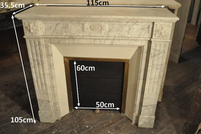 Chemin e ancienne 19 eme si cle marbre achat vente daniel morel - Restaurer cheminee ancienne ...