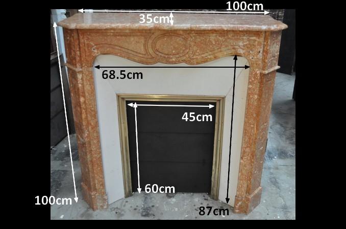 Chemin e ancienne louis xvi 19 eme si cle marbre carrare achat vente daniel morel - Demolition cheminee ancienne ...