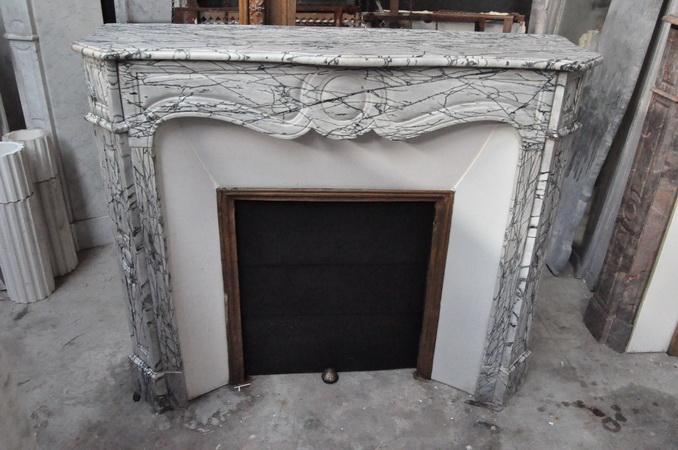 chemin e ancienne louis xvi 19 eme si cle marbre carrare achat vente daniel morel. Black Bedroom Furniture Sets. Home Design Ideas